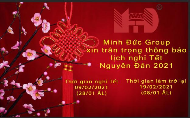 Minh Đức - Group thông báo lịch nghỉ tết nguyên đán 2021