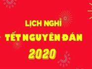 Thông báo lịch nghỉ Tết Âm lịch 2020